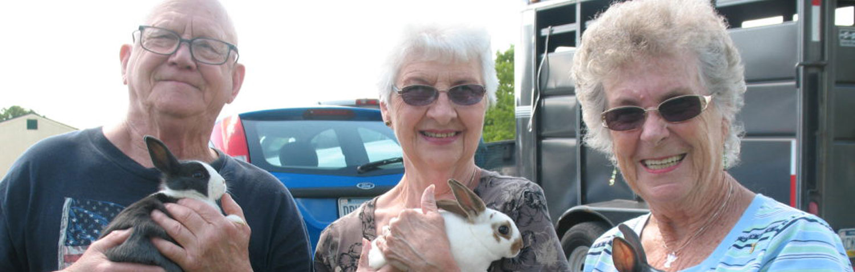 Members Holding Bunnies