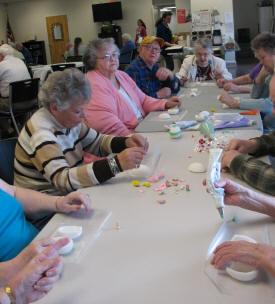 Seniors Making Crafts