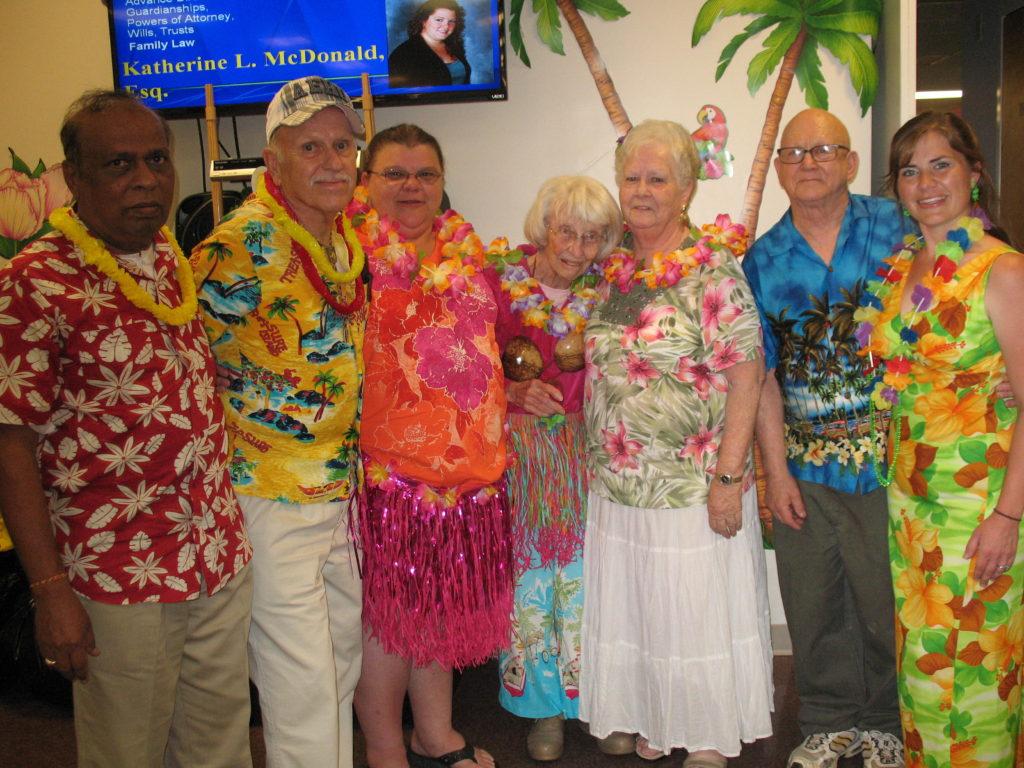 Hawaiian Party Guests