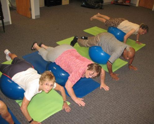 Seniors Doing Exercises
