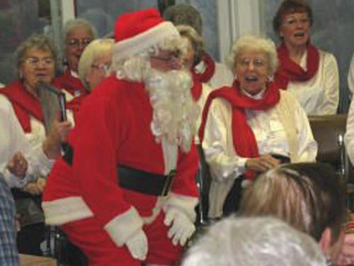 Santa at Christmas Party